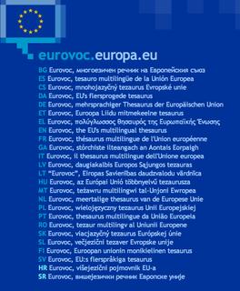 Thésaurus EuroVoc : Porte d'entrée sur le site