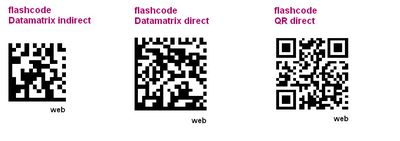 Les divers flashcodes2011